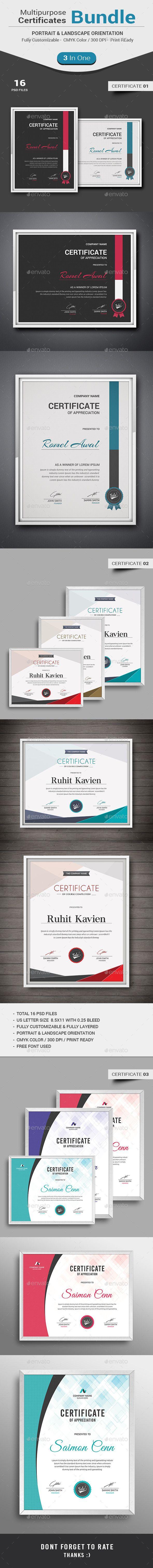 Multipurpose Certificates Template PSD Bundle. Download here: http://graphicriver.net/item/multipurpose-certificates-bundle-/13183388?ref=ksioks