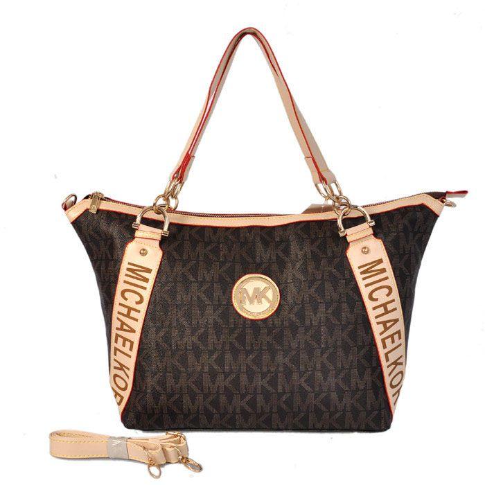 Michael Kors MK Circle \u0026 Sharp Angle Shoulder Bag Coffee - $82.00 Buy cheap Michael  Kors