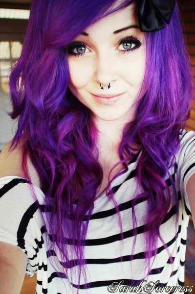 purple scene hair | curly scene hair # pretty scene girl # pretty scene hair ...