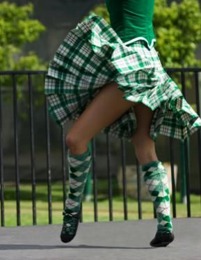 Kilt from the waist down from the side #Milne #Green #Tartan