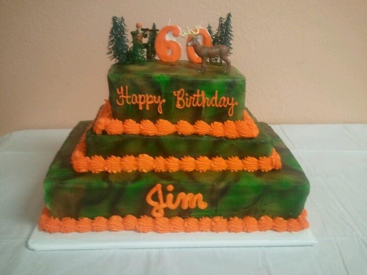 Dad's camo birthday cake