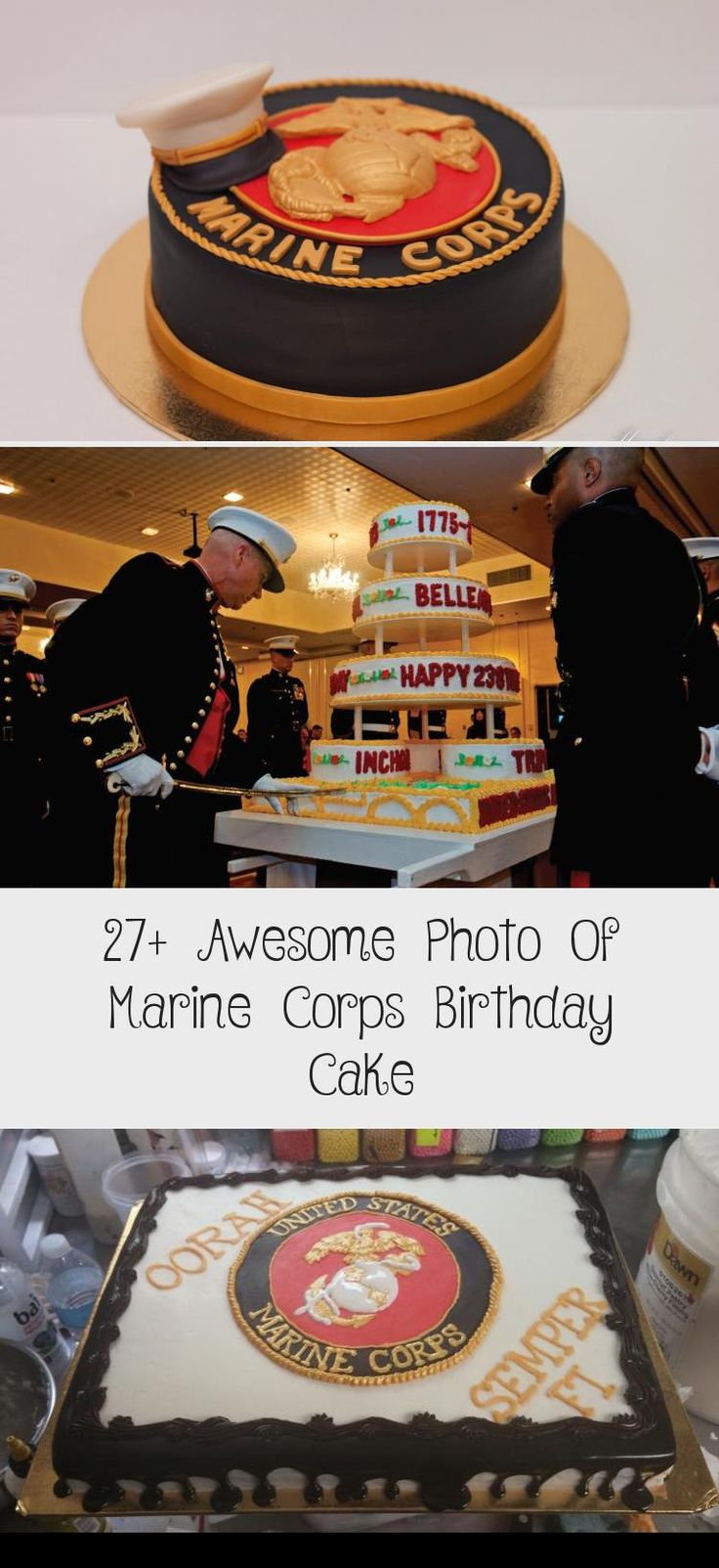 27+ Awesome Photo Of Marine Corps Birthday Cake Cake in