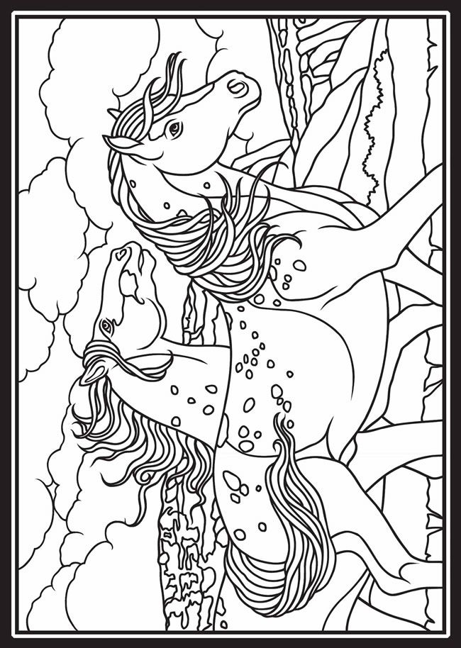 This is a picture of Gutsy wild horses coloring pages