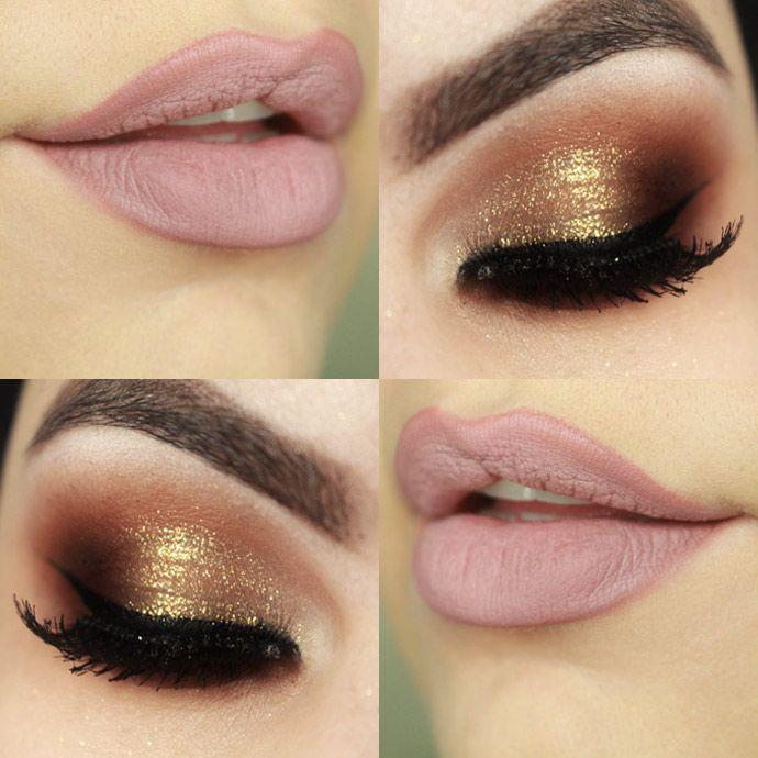 Lleva el dorado en tus ojos.