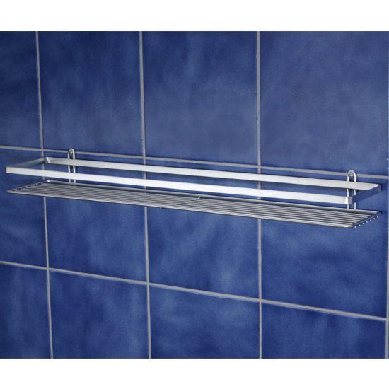 Satina Single Shower Caddy Shelf - Chrome - 56490 at Victorian Plumbing UK