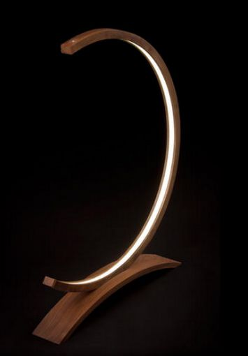 The work of art — Composition of wood and led strip light - Derunled
