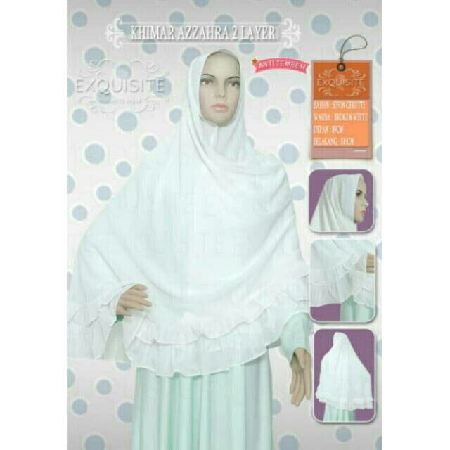 Saya menjual Khimar instan Azzahra 2 Layer bahan sifon cerutti seharga Rp168.000. Dapatkan produk ini hanya di Shopee! https://shopee.co.id/exquisite.beautyhijab/262175265/ #ShopeeID