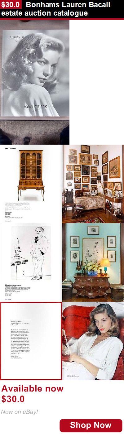 Auction: Bonhams Lauren Bacall Estate Auction Catalogue BUY IT NOW ONLY: $30.0