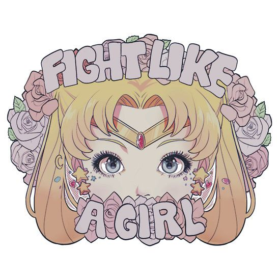 Fight Like a Girl, Sailor Moon sticker and shirt by glofii thinking sailor Jupiter or mars tho