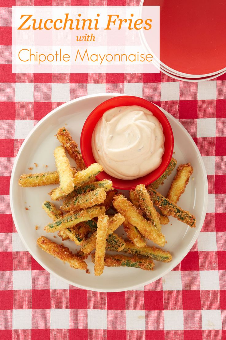 Healthy recipes: Zucchini Fries with Chipotle Mayonnaise