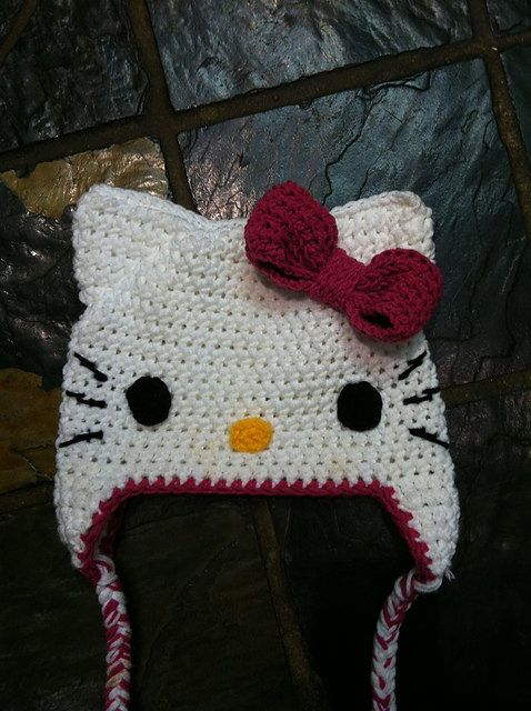 Free Hello Kitty Knit Hat Pattern : 17 Best images about Beanies, crochet, knitting, scarves...etc. on Pinterest ...