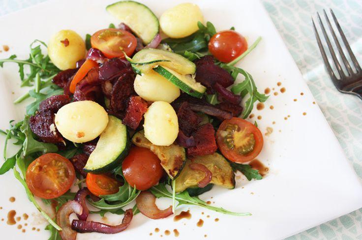 Krieltjessalade met chorizo