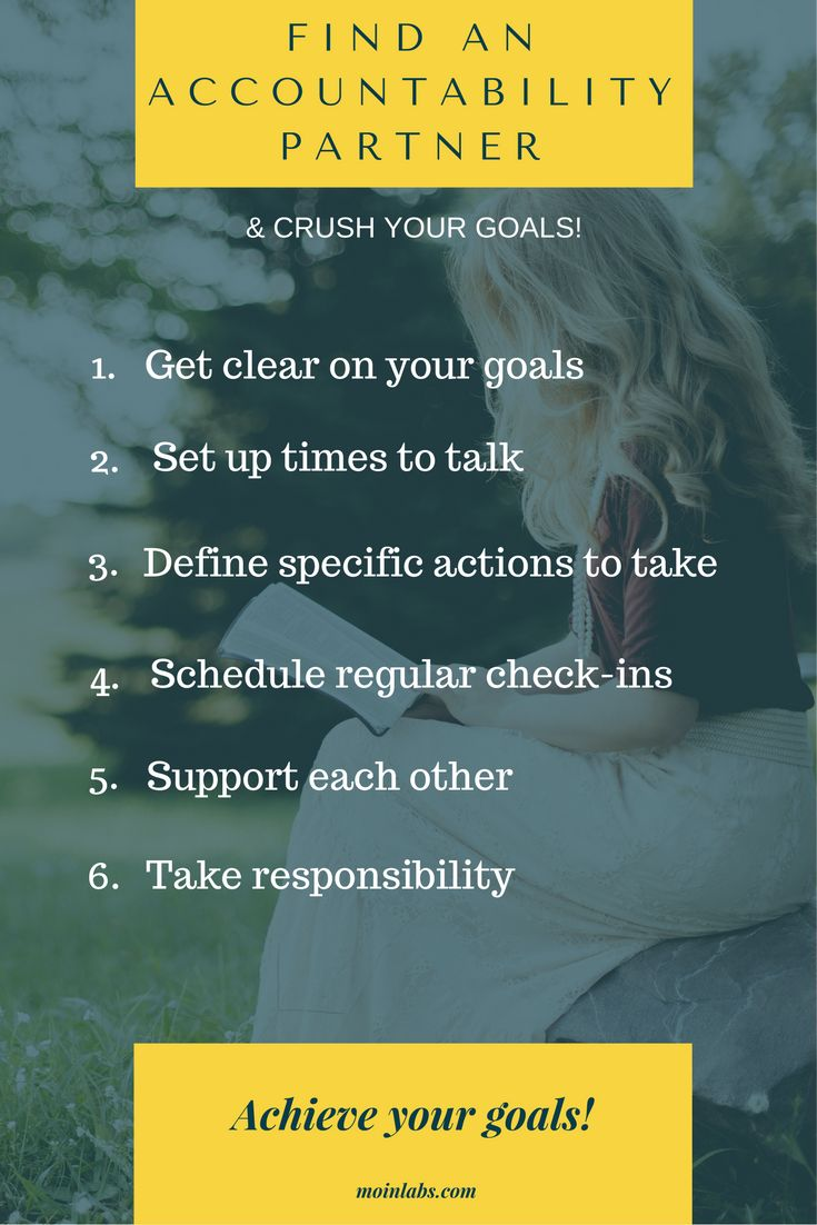 Find an accountability partner & crush your goals. Check out specific steps to make it work.