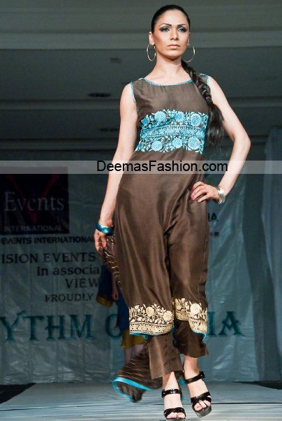 Designer Collection 2010 – Brown Ferozi Casual Wear | Latest Pakistani Fashion 2014 Bridal Dresses Formal Wear