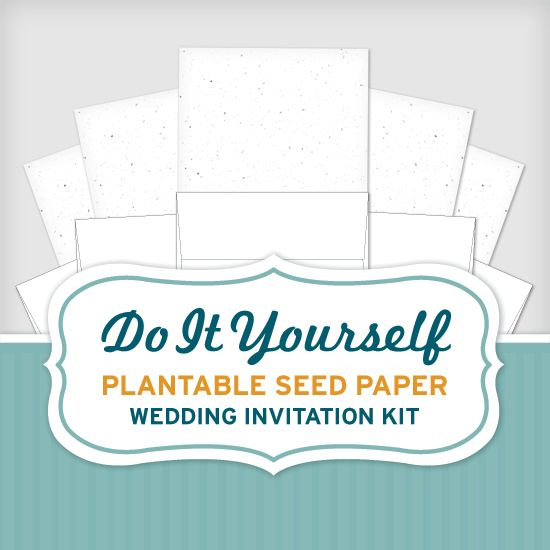 Best 25 invitation kits ideas on pinterest wedding invitation make your own plantable wedding invitations with the do it yourself seed wedding invitation kit choose the design you like and print the plantable solutioingenieria Choice Image
