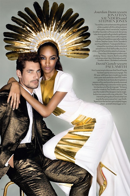 {fashion inspiration | editorial : olympics edition, vogue uk by nick knight} by {this is glamorous}: Jourdan Dunn, Fashion, David Gandy, Editorial, Nick Knight, Midas Touch, Vogue Uk, September 2012, Davidgandy