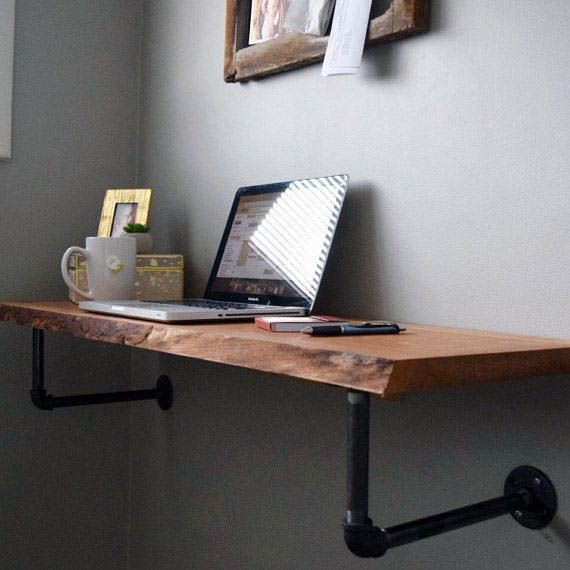Stunning Ideas For A Floating Desk Between Two Walls Only In Homesable Com Diy Office Desk Desk Design Diy Desk Plans