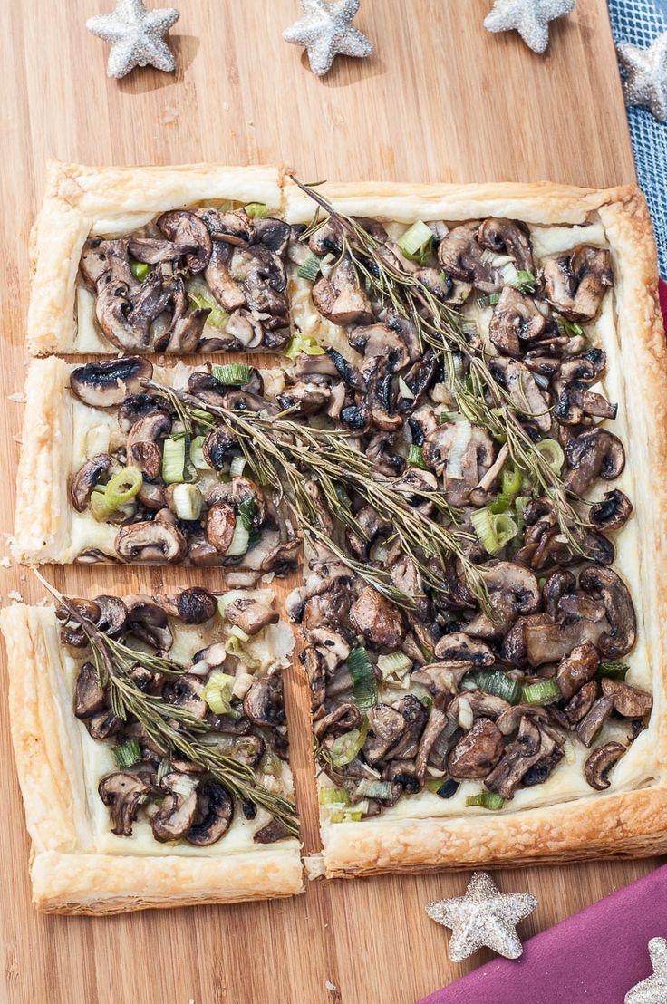 Rosemary Mushroom Tart Recipe Puff Pastry - Vegan Family Recipes