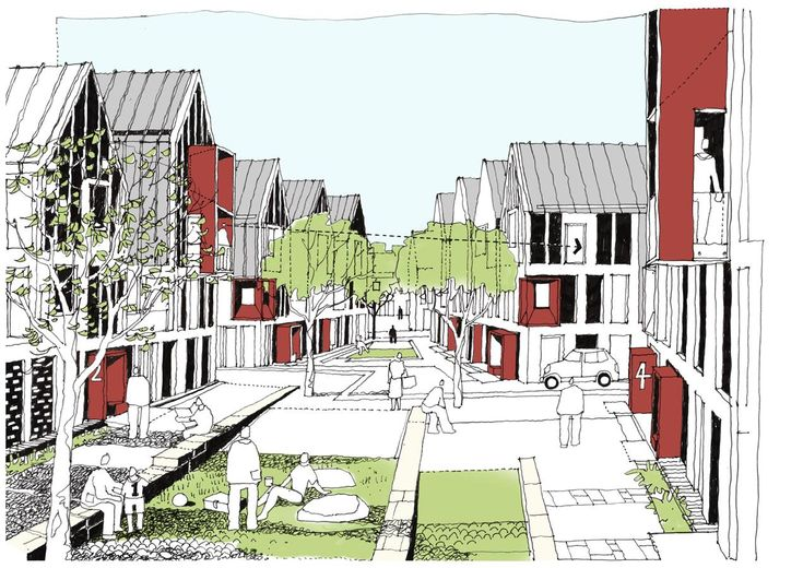 Concept sketch of the Village Amble