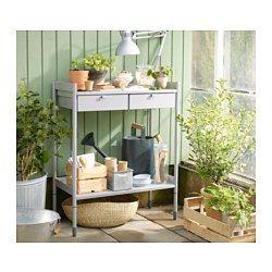 HINDÖ Planteringsbord, grå - IKEA