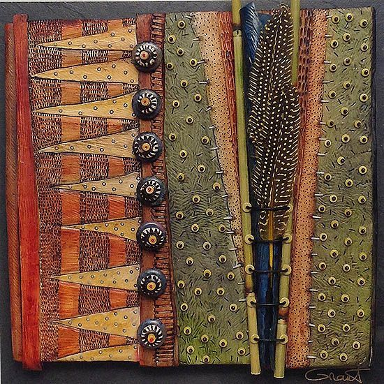 ... Grant 13061, Botanical 13061 Br, Artists Vicki, Polymer Clay, Art