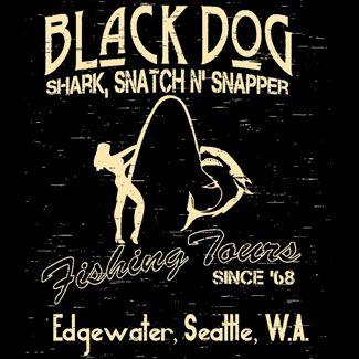 Led Zeppelin Black Dog Fishing Tours T Shirt Edgewater