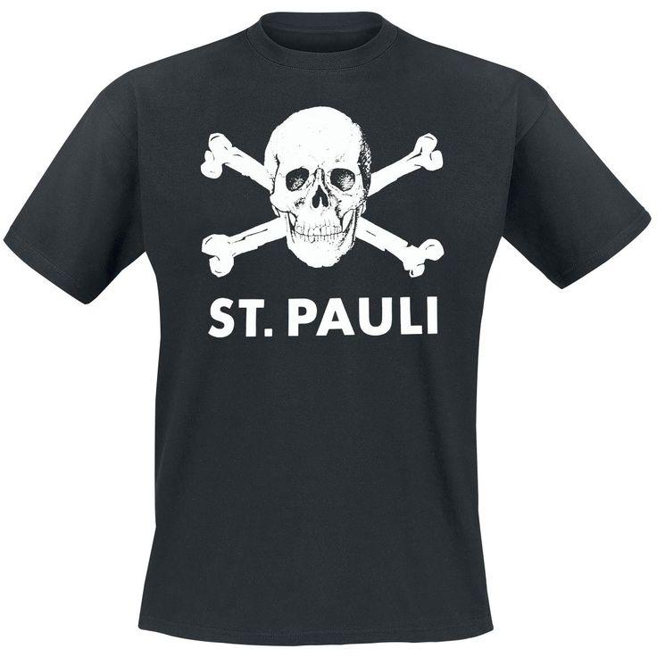 Dieser Verein ist einfach Kult: FC St. Pauli muss man einfach lieben. Egal, ob im Stadion oder daheim: das Gemeinschaftsgefühl ist der Wahnsinn – das sollte jeder mal mitgemacht haben. Auf dem schwarzen Totenkopf Shirt prangt der legendäre St. Pauli Totenkopf - sau gut, oder?!