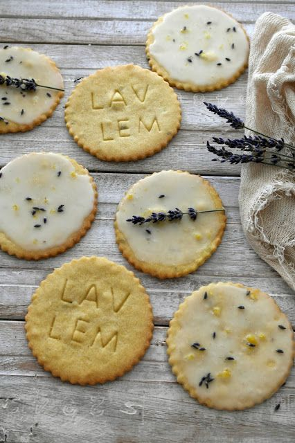 i love shortbread, i decided to make these really thin so they would just melt in the mouth. i combined lemon and lavender as i