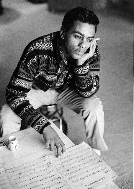 Johnny Mathis, Hollywood, 1958 - by Bob Willoughby