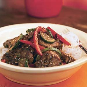 Cooking Light Pork and Stir-Fried Vegetables with Spicy Asian Sauce | MyRecipes.com: Sauces Recipe, Pork Stir Fried, Bestest Recipe, Asian Food, Stir Fried Vegetables, Spicy Asian, Asian Pork, Asian Sauces, Pork Stirfri