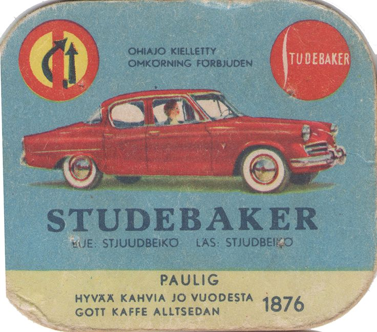 En nostalgitripp fram till jul med hjälp av Pauligs bilkort från mitten av 1900-talet. Studebaker #cars #vintage