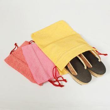 ちりめん草履袋【日本製/和小物さくら/赤・黄・ピンク】