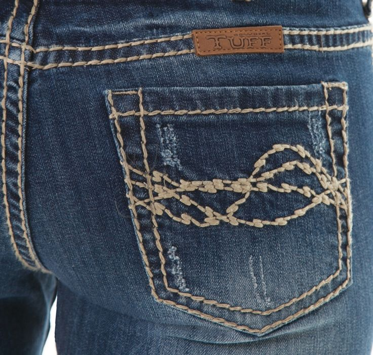BunkhouseWestern | Whip It Good Tan Cowgirl Tuff Jeans