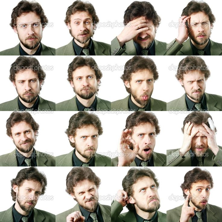 Výrazy obličeje — Stock obrázek #8657281