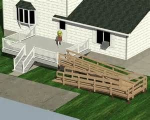 Wheelchair Ramp To Second Story Deck Bing Images