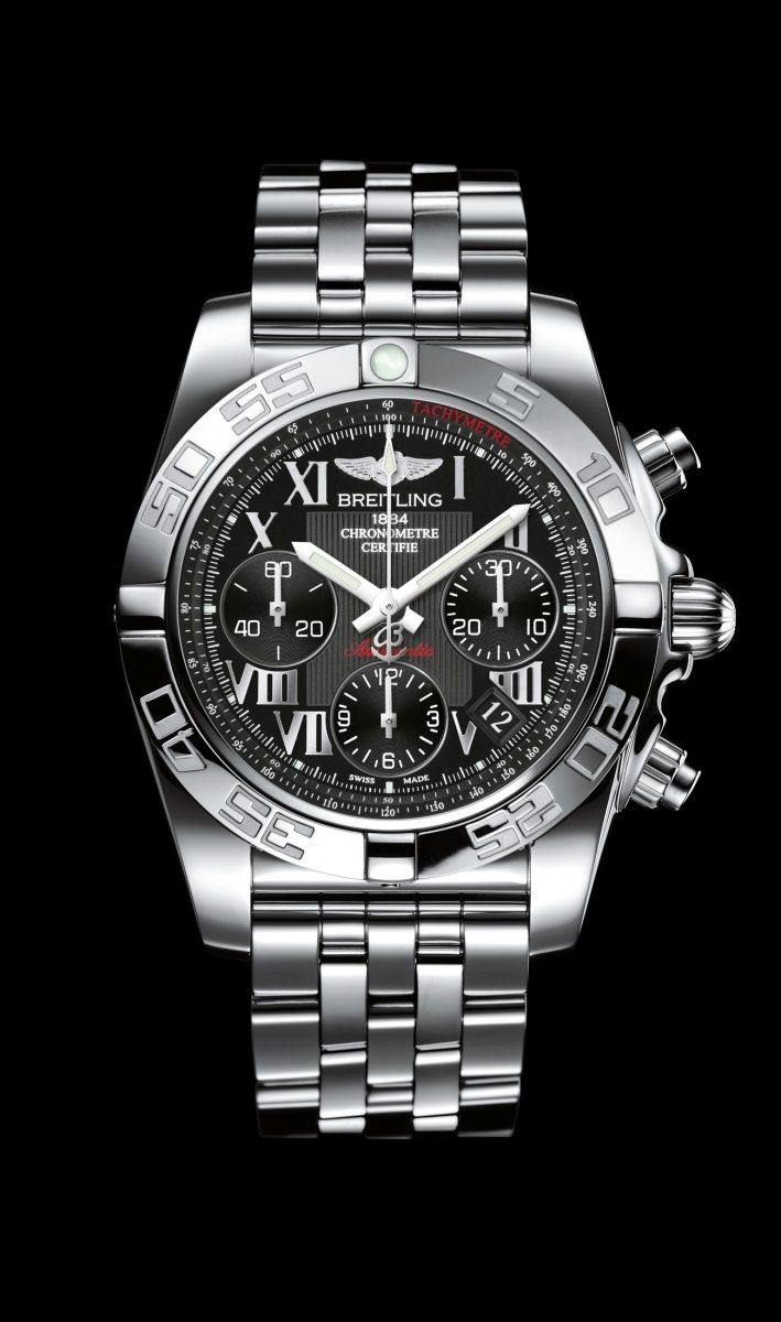 Chronomat 41 Black Roman Steel - Breitling - Instruments for Professionals/ Old Northeast Jewelers is your Authorized Dealer for Breitling Fine Timepieces. 727-898-4377 or 813-875-3935 Sales@oldnortheastjewelers.com to order via email or visit our website at www.oldnortheastjewelers.com