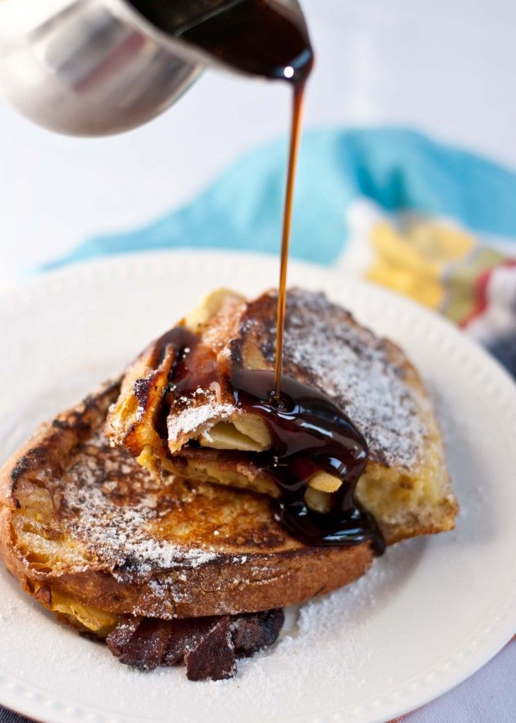 Bacon, Apple, and Dubliner Cheese Stuffed French Toast | Neighborfoodblog.com