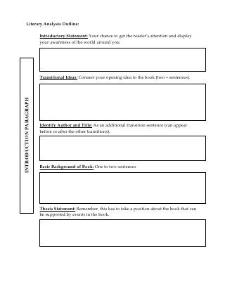 critical analysis essay structure