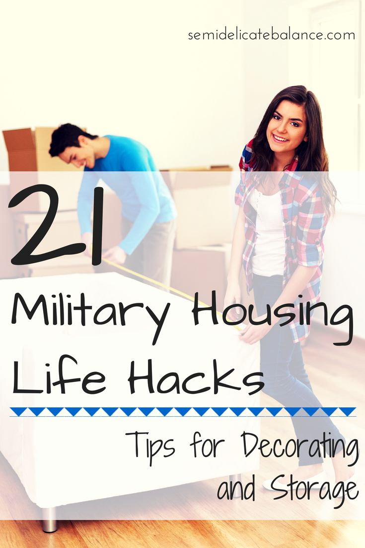 21 Military Housing Hacks: Tips for Decorating and Storage (also good for rental properties)