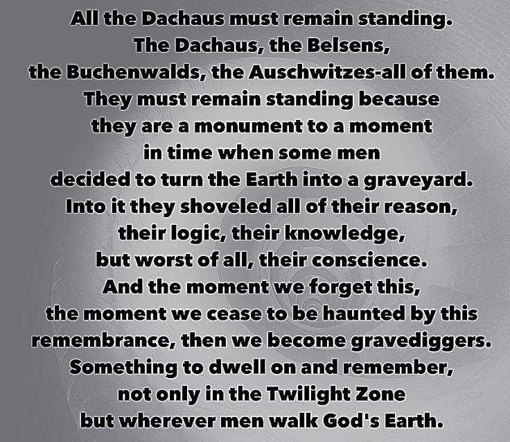 twilight zone quotes | World War II, Holocaust, Twilight Zone | Quotes/Sayings