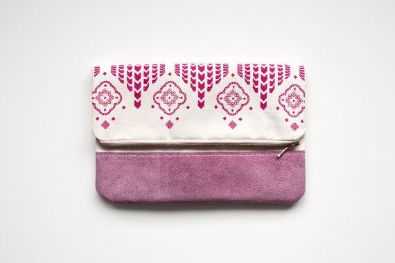 Pink Moroccan Pattern Coin Purse Printed Leather #serigrafía #LinduraTotal