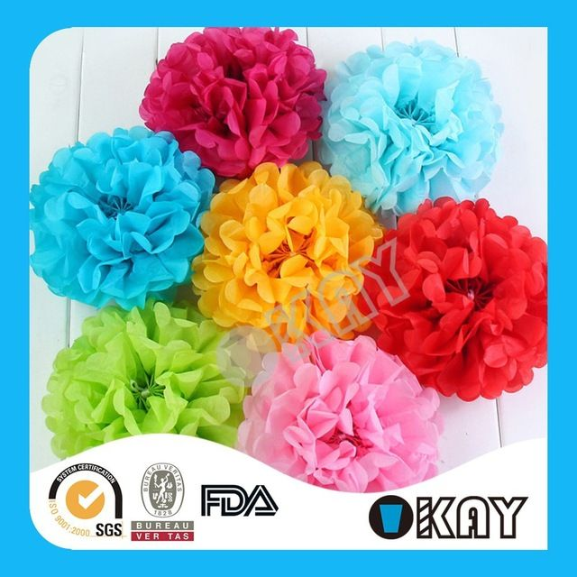 Look what I found Via Alibaba.com App: - Wholesale Wedding Tissue Paper Pom Poms Flower Balls