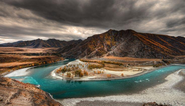 Merging of Chuya and Katun Rivers, Altai