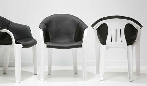 Transforming the White Plastic Chair - http://freshome.com/2008/05/28/transforming-the-white-plastic-chair/