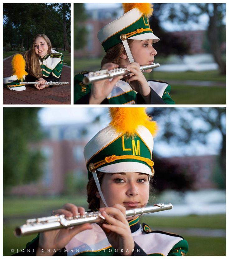 Banded Bands: Outdoor Band Senior Pictures