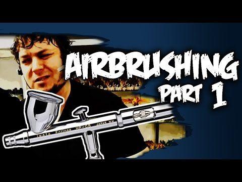 Airbrushing Tutorial-Beginners Guide Part 1 - YouTube