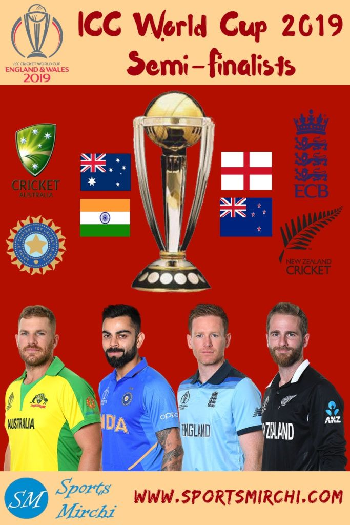 Semi Final Lineups For 2019 Cricket World Cup Sports Mirchi Cricket World Cup