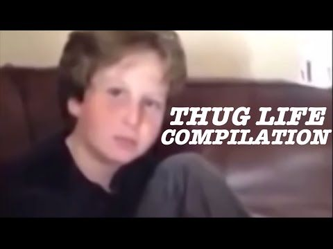 Thug Life Compilation - YouTube I personally DON'T CARE for the lil kid 1's cuss'n LIKE their an ADULT! They NEED they A$$ES WHOOPED! :/