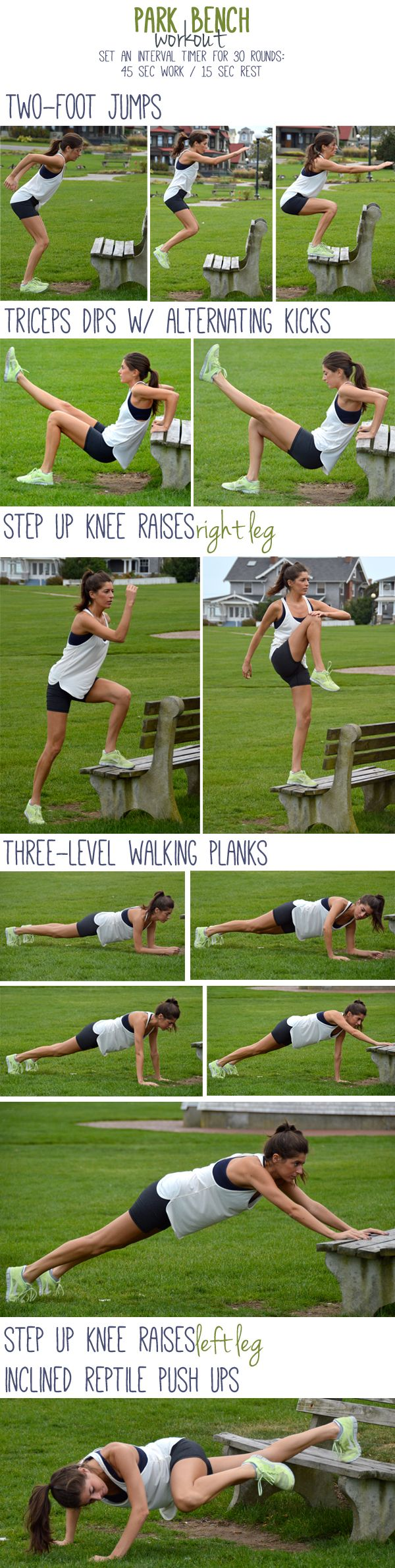 Park Bench Workout--30 minutes of bench exercises.