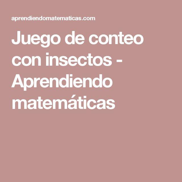 Juego de conteo con insectos - Aprendiendo matemáticas